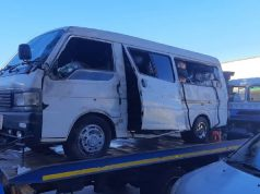 The kombi used during the robbery