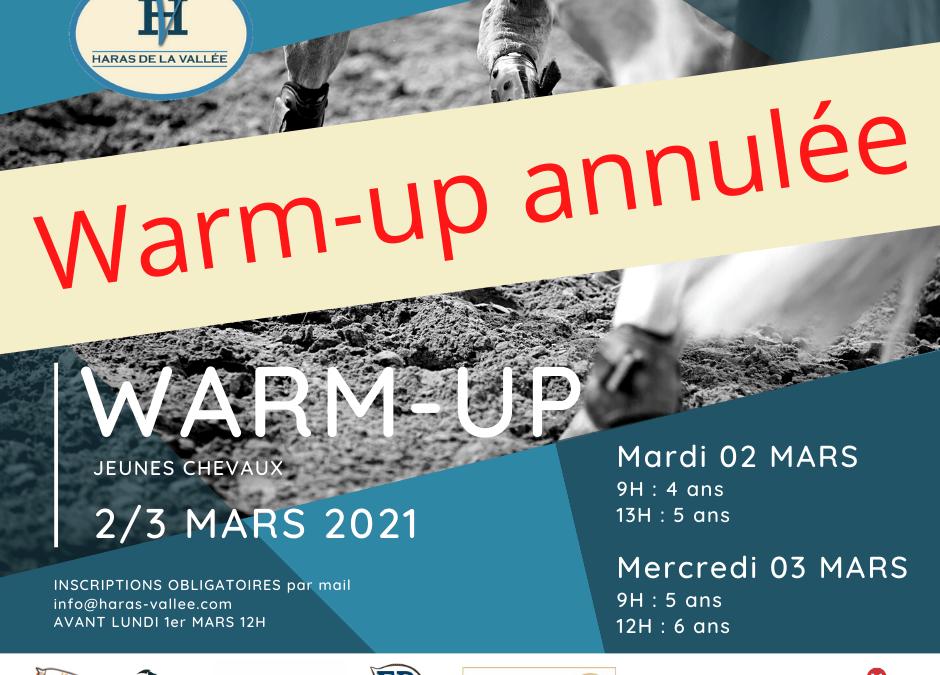 WARM-UP Jeunes chevaux – 2 et 3 mars 2021