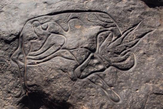 Gravures rupestres de Tin Taghirt (Djanet)