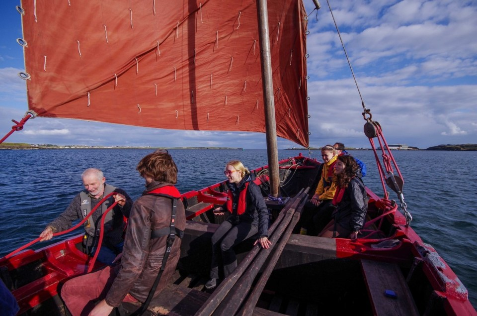 Sailing a historic 'Sgoth' in Stornoway