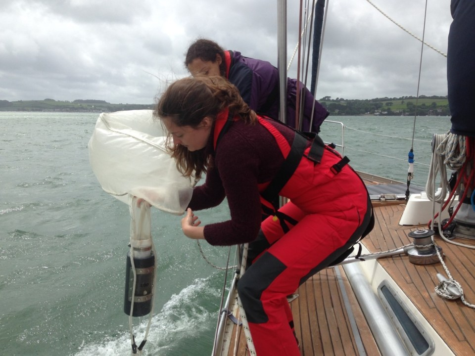 Sampling for microplastics, Cornwall