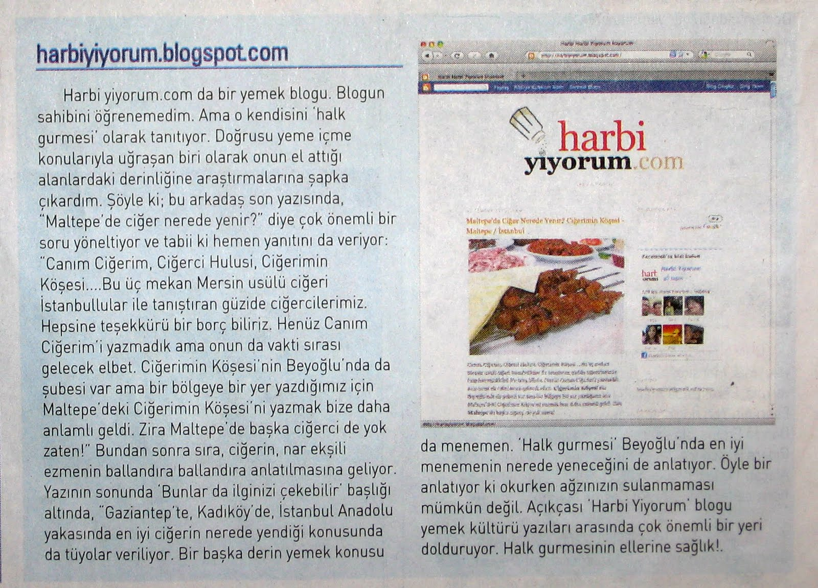 Harbiyiyorum.com Yazısı - Ahmet Örs /SABAH 2010
