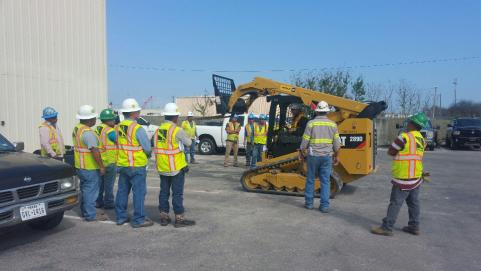 Outdoor Skid Steer Training