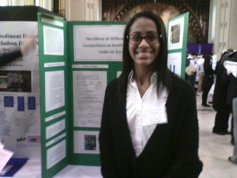 Tahirah at Sheppard Hall, City College during NYCSEF