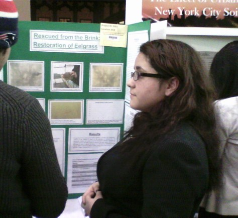 Nicolle presenting at the New York City Science and Engineering Fair this past Sunday, March 1st.