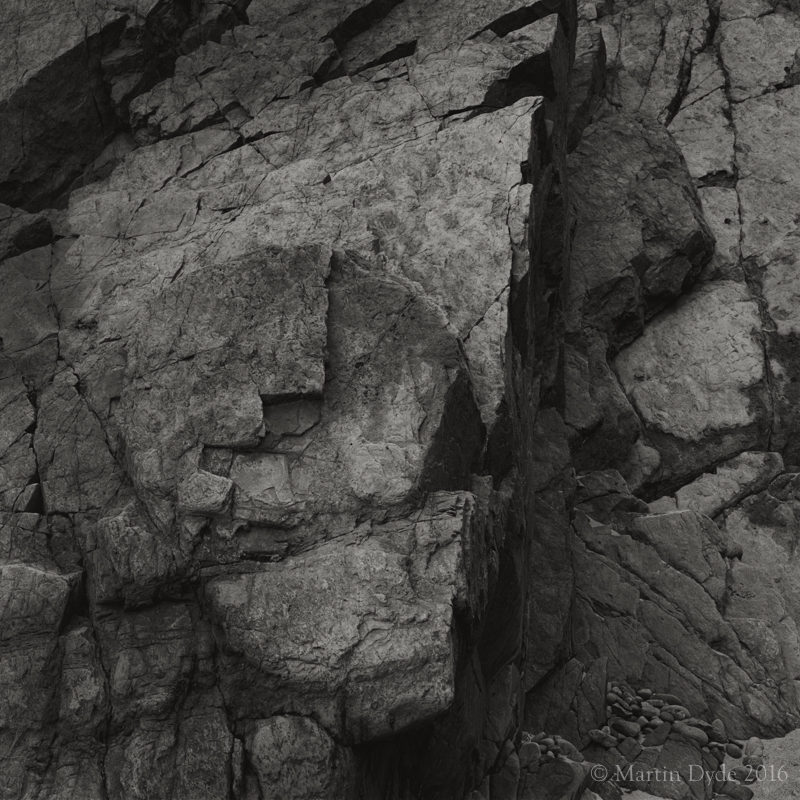 Shapes in cliff rock, Marloes Sands, Pembrokeshire