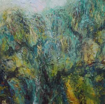 Nicholas Ward 'Coastal cliffs Pembrokeshire II'