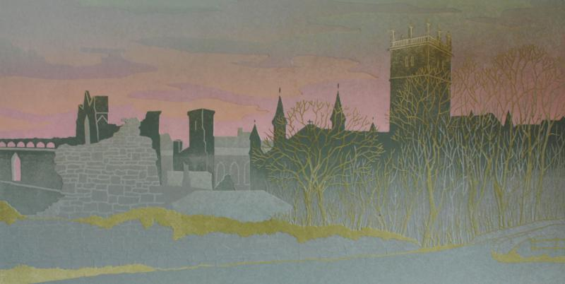 St.Davids Cathedral winter dawn