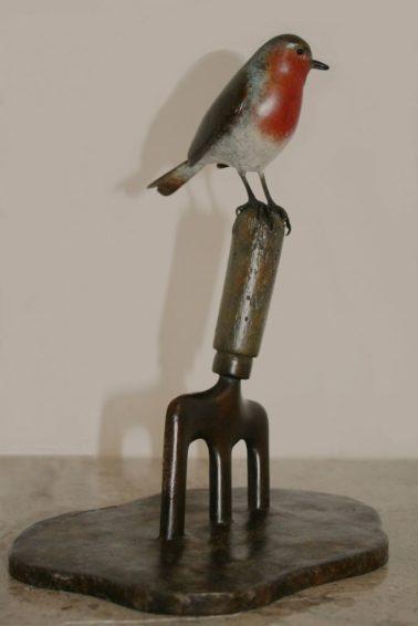 Eddie Hallam - Robin on a fork