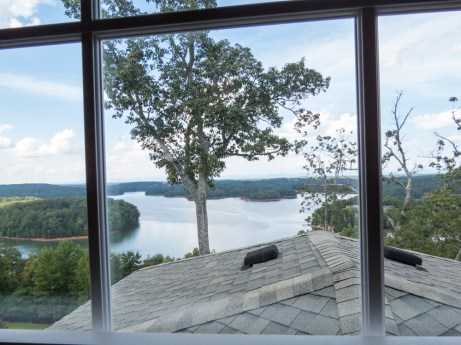 Master bedroom view of Lake Lanier