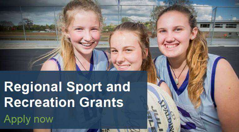 Regional Sport and Recreation Grants – Opens 10 October