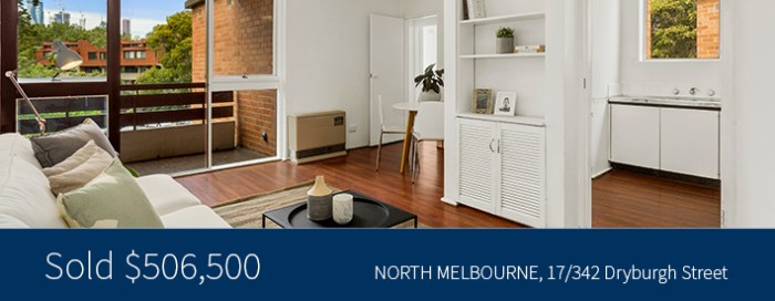 17/342 Dryburgh Street, North Melbourne Sold for $506,500