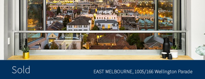 1005/166 Wellington Parade, East Melbourne - Sold