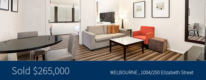 1004/250 Elizabeth Street - Sold $265,000 - Harcourts Melbourne City