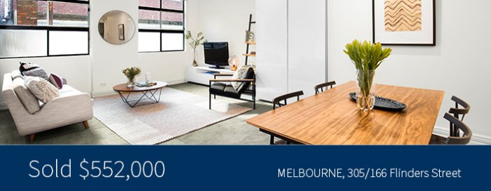305/166 Flinders Street, Melbourne - Sold for 552,000 - Harcourts Melbourne City