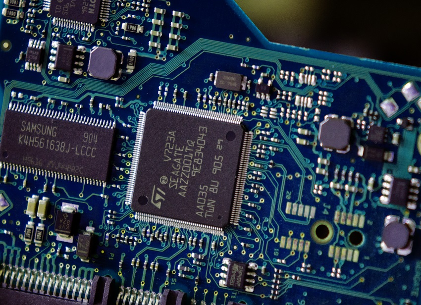 PCB from a hard drive for data recovery