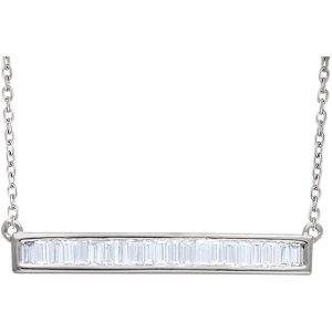 Diamond Baguette Horizontal Bar