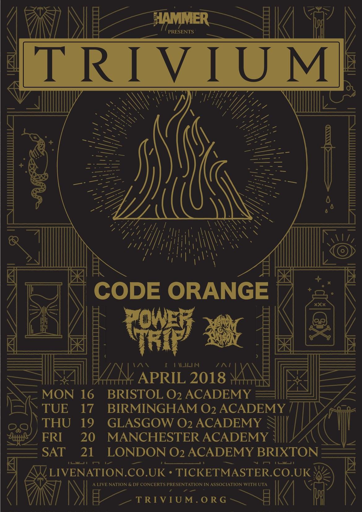 Trivium UK Tour Poster