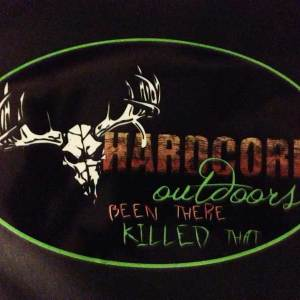 Hardcore Outdoors Window Decal
