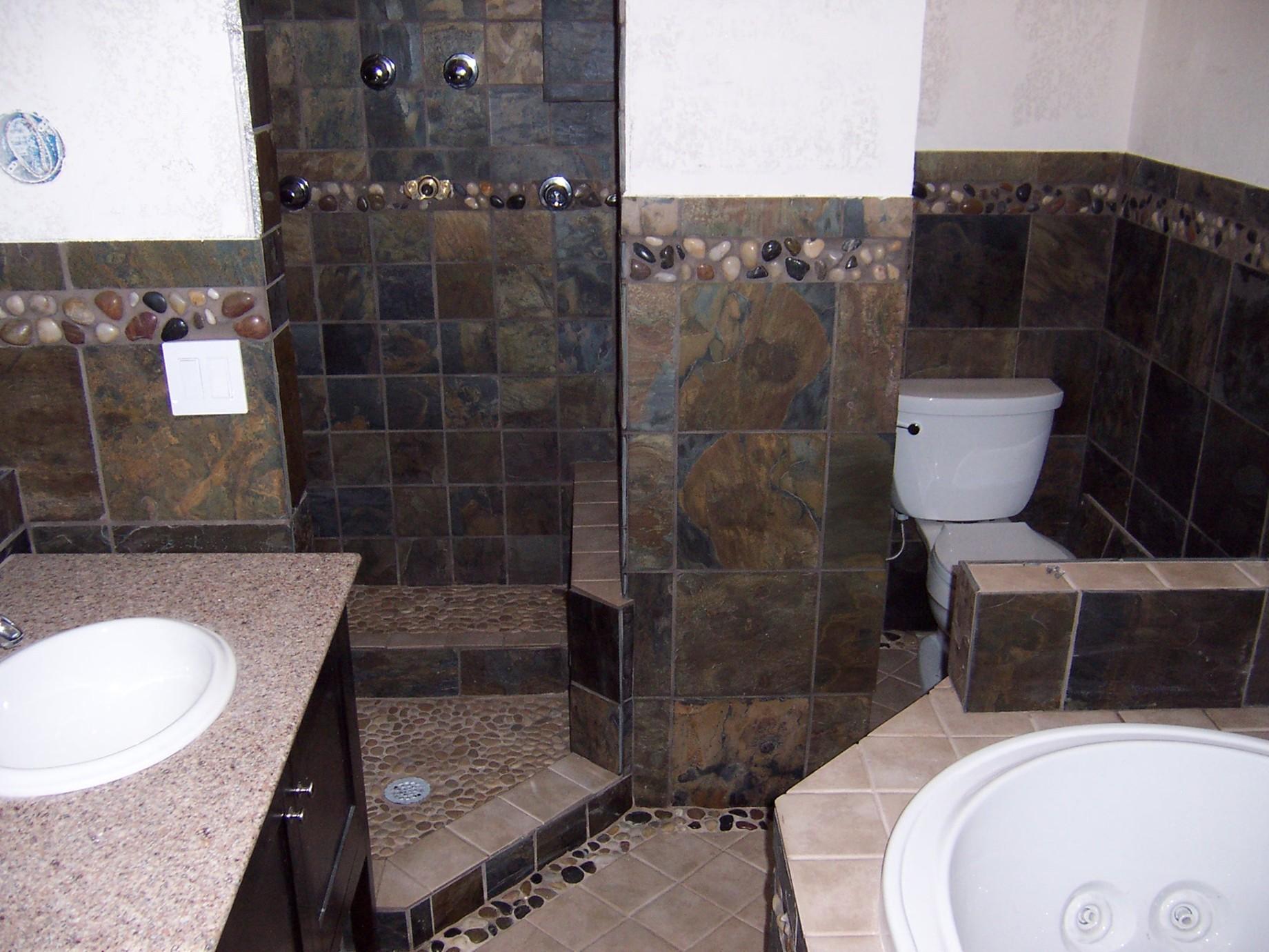 Slate Bathroom Remodel Hardhat13