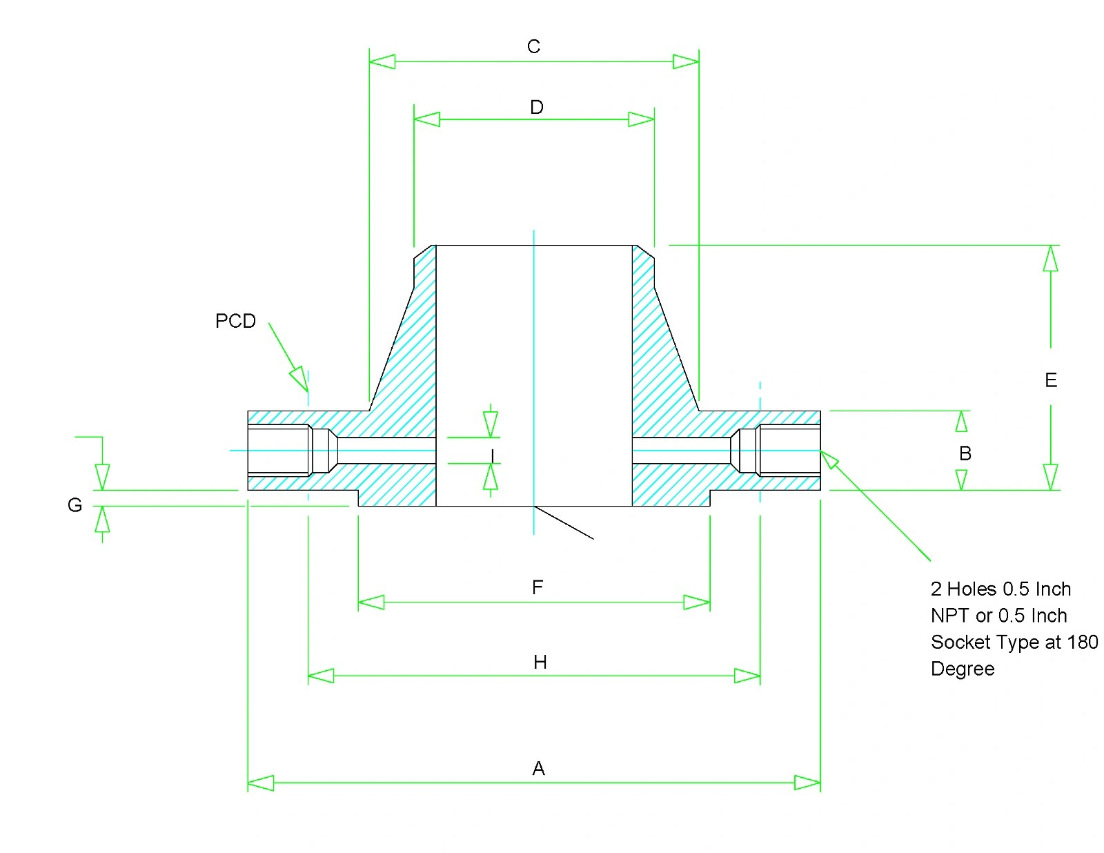 hight resolution of orifice flange dimensions