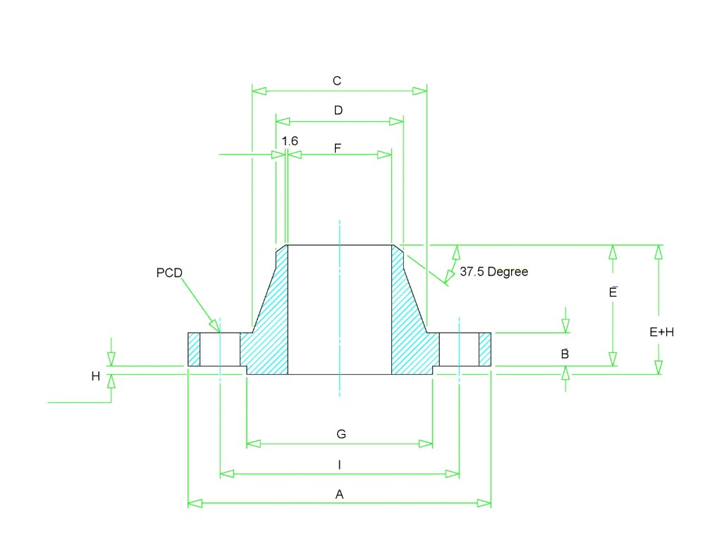 medium resolution of weld neck flange dimensions class 150 to class 2500