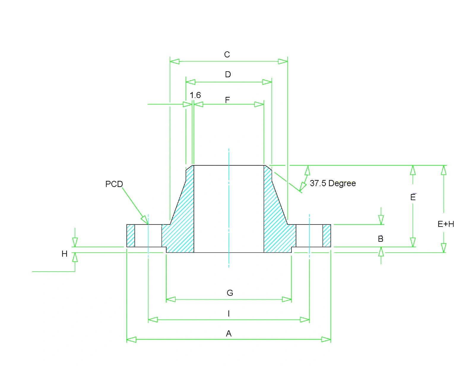 hight resolution of weld neck flange dimensions class 150 to class 2500