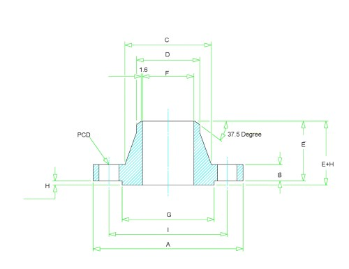 small resolution of weld neck flange dimensions class 150 to class 2500