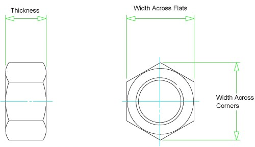 small resolution of heavy hex nut dimensions