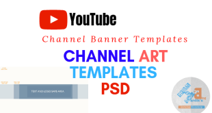 youtube channel art template psd