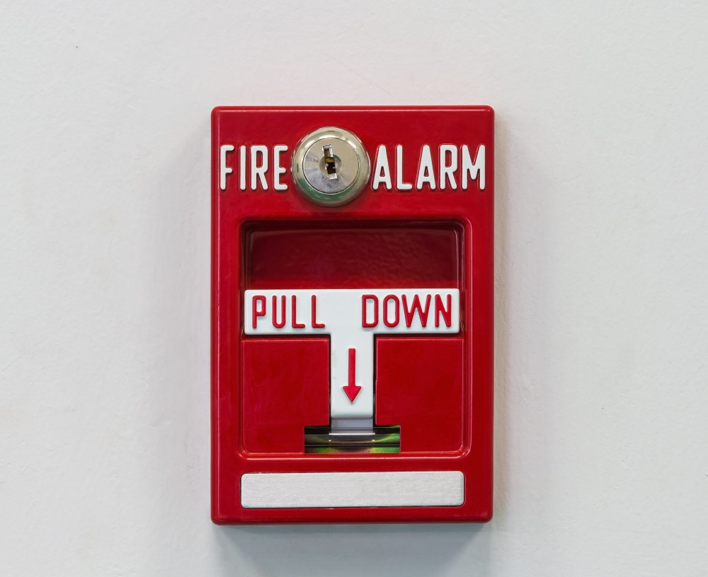 medium resolution of wall mounted fire alarm pull switch for activating fire fighting system
