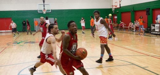 Hard Knock Hoops Dizzy Wright Drives to Basket