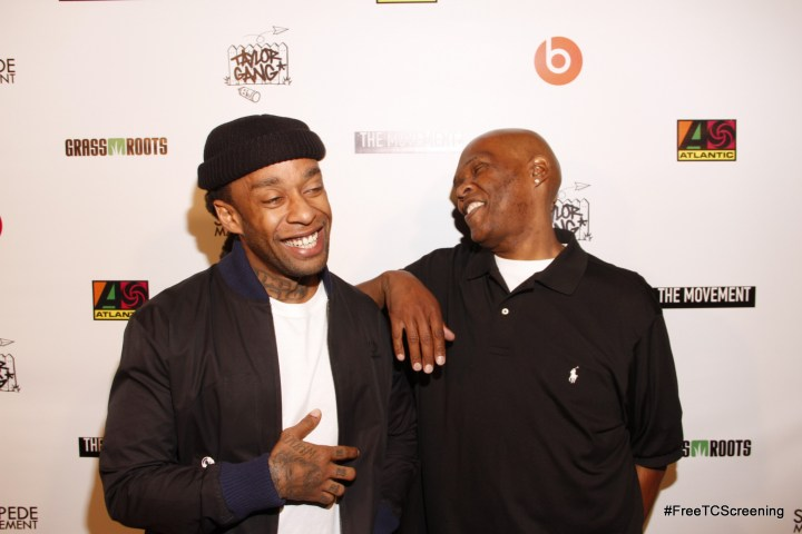 Ty Dolla $ign with 92.3 KDAY radio personality Big Boy (Photo by Arnold Turner/ATA)