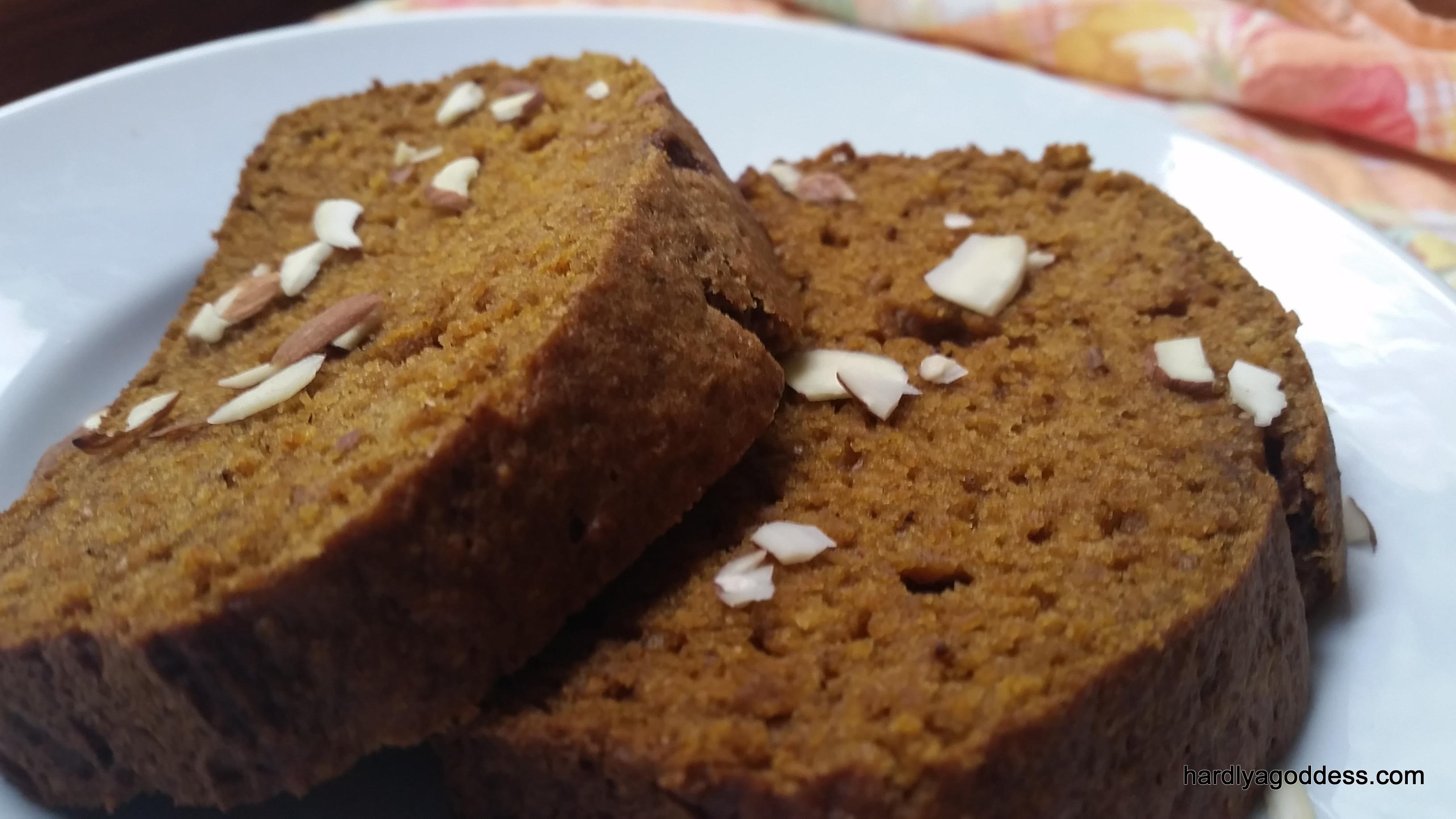Pumpkin Wheat Loaf | Hardly A Goddess