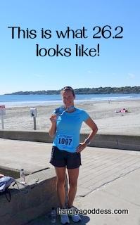 running a marathon!