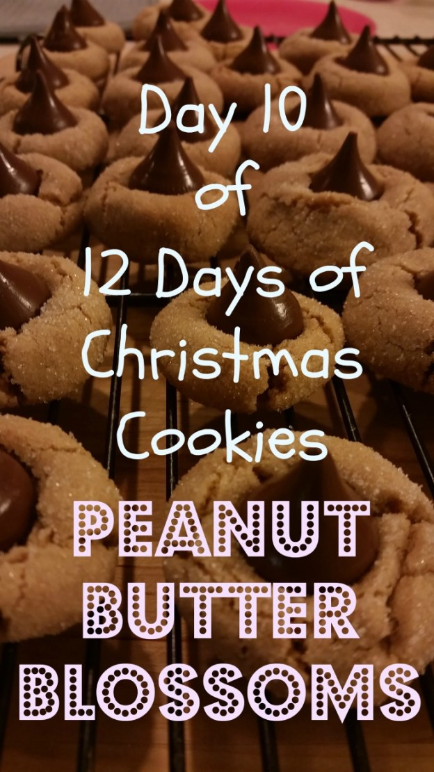 12 Days of Christmas Cookies, Day 10: Peanut Butter Blossom Cookies