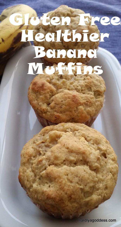 Gluten Free Healthier Banana Muffins