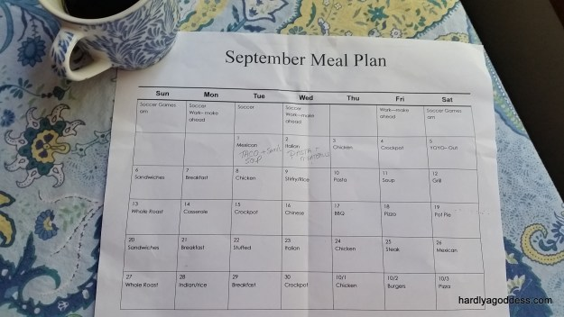 September Meal Plan