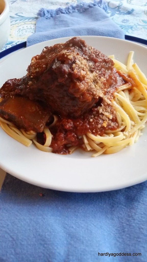Braised Italian-Style Beef Short Ribs | Hardly A Goddess