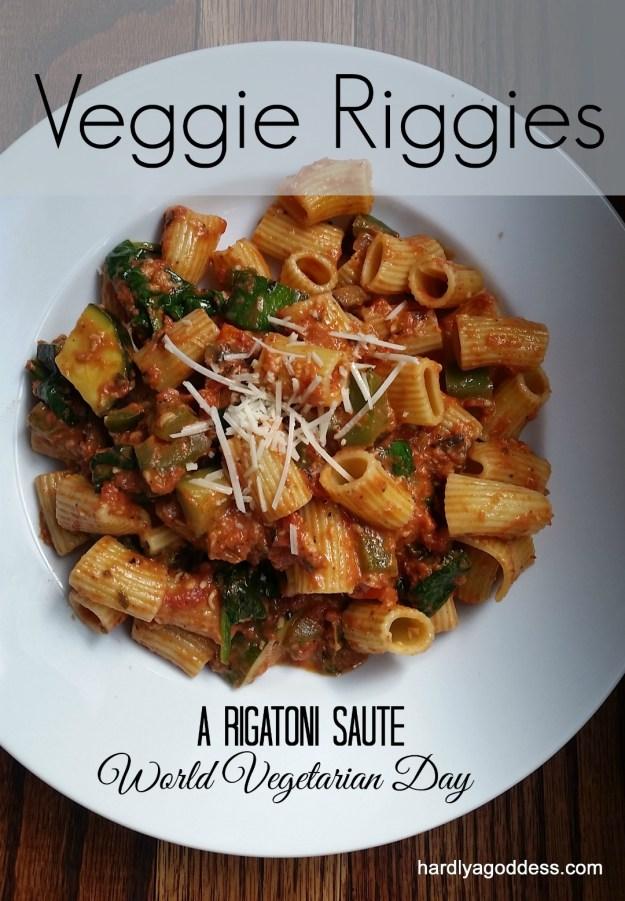 Veggie Riggies a Vegetarian rigatoni saute