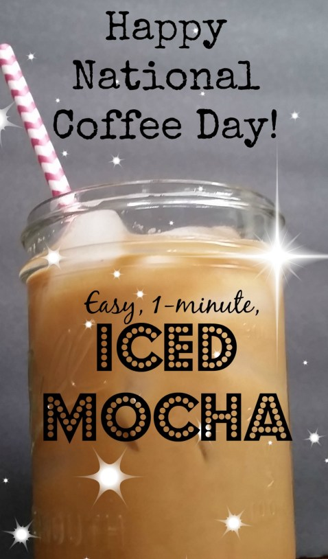 One-minute easy DIY iced-mocha