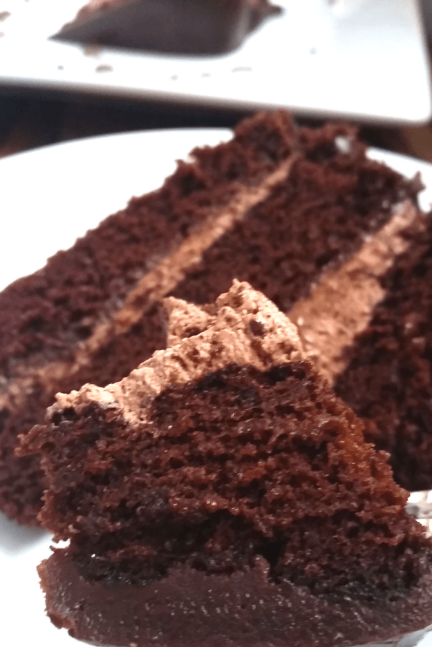 Triple Layer Chocolate Mousse Cake #BakingBloggers