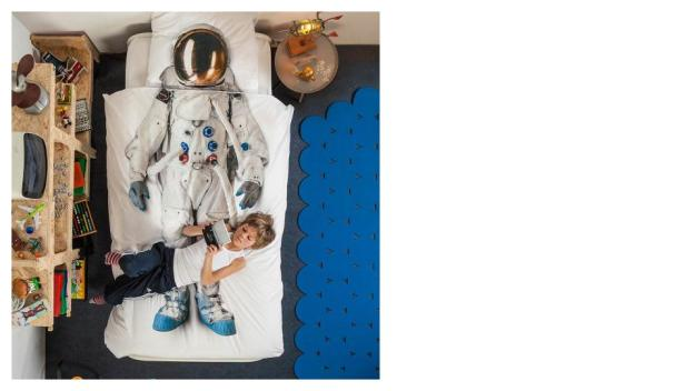 space duvet and pillowcase
