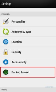 How to Hard reset your HTC Desire