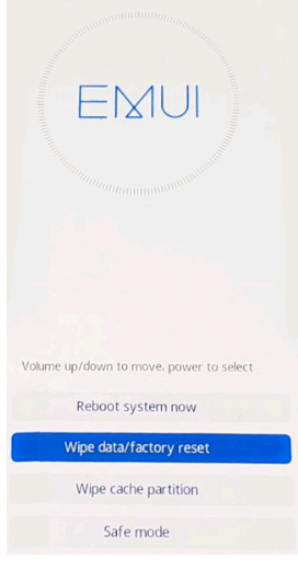 Reset on Huawei Device