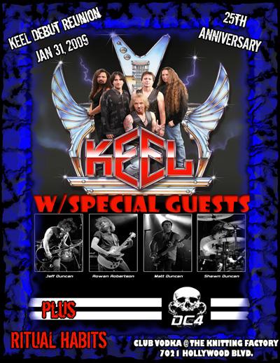 KEEL 25th Reunion Flyer w/DC4