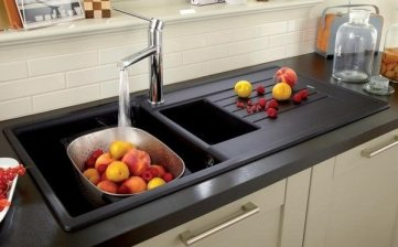 contemporary-kitchen-sinks-granite-composite-sinks-ideas-black-kitchen-sink-with-drainer