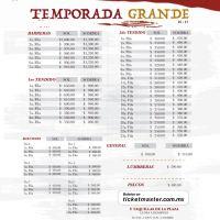Plaza México: Lista de Precios para la Temporada Grande 2016-17
