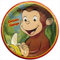 Curious George Small Paper Plates (8ct)