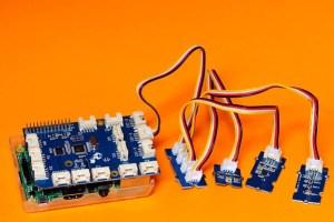 GrovePi+ carte avec 3 capteurs sur le bus i2c
